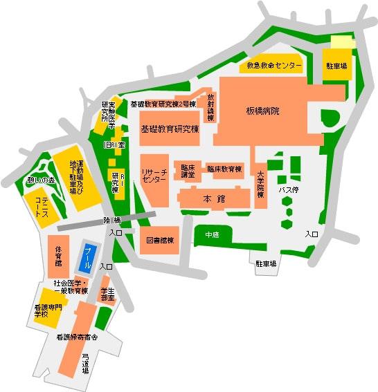 板橋病院の地図